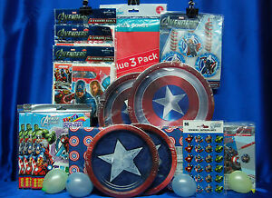Avengers Party Set # 17 Plates Napkins Loot bags Tablecover Favors Invites Thank