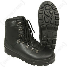 German Army Style Black Mountain Boots - All Sizes Military Modern Shoes New