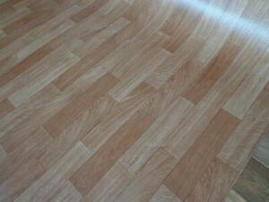 CV PVC (8€/m²) Bodenbelag Holz Eiche Optik Sonder Posten Sale 1&2 Meter breit