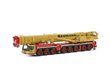 "LIEBHERR LTM 1500-8.1 ""BAUMANN"" MOBILE CRANE YELLOW/ RED 1/50 WSI MODELS 51-2016"