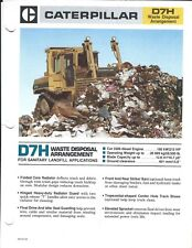 Equipment Brochure - Caterpillar - D7H Waste Garbage Landfill - c1986 (E3987)