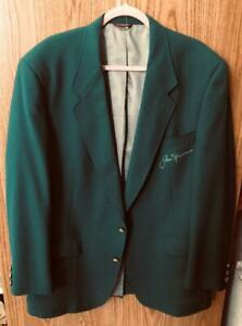 JACK NICKLAUS  Signed His Green Tournament Jacket A real 10 autograp JSA XX07141