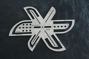 Steel Leather Belt Point End Stencil Belt End Templates Ruler Leathercraft Tool