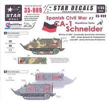 Star Decals 1/35 SPANISH CIVIL WAR REPUBLICAN TANKS CA-1 Schneider Tank