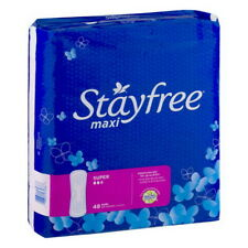 Stayfree 07036 Stayfree Pads Maxi Super 6-48 Count TOTAL 288