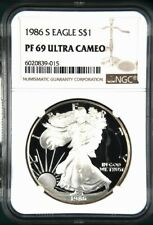 1986 S PROOF SILVER EAGLE - NGC PF 69 ULTRA CAMEO