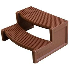 Confer Plastics HS2 Mahogany Resin Handi-Step For Spa and Hot Tubs