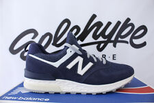 NEW BALANCE 574 SPORT DEEP SEA BLUE SUEDE NAVY OFF WHITE 574S MS574BB SZ 10