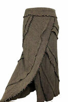 Per Una M&S Italian Fabric Tweed Brown Skirt Size Lined Wool Silk Blend UK 16 R