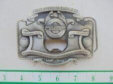 2004 Great American Buckle Co. Texas best/fine aged pewter belt buckle
