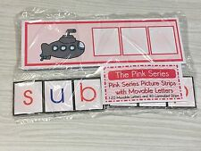 The Pink Series - Picture Strips with Movable Letters Montessori