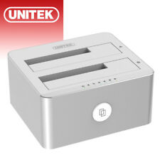 "UNITEK USB 3.0 to SATA Dual Bay External 3.5"" Clone Hard Drive Docking Station"