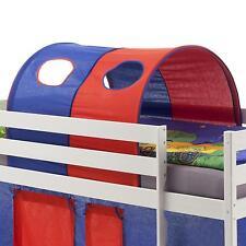 Tunnel bleu rouge pour lit enfant surélevé mi-hauteur