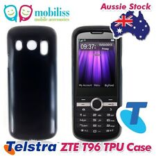 Black TPU Gel Jelly iSkin Case Cover Skin for Telstra ZTE T96