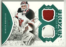 2011-12 Artifacts Frozen Artifacts Jersey Patches Emerald Martin Brodeur # 16/35
