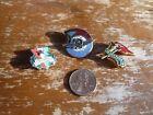 Vintage Hungarian Communist Pins Lot of THREE c1980s Hungary Political Ephemera