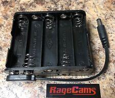 10AA Battery Holder Camera/Mic Power Supply CCTV Portable 12v Dc Pack 14.4v 2.1