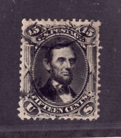 Scott # 77.....15c Lincoln.. . Used...Small Sealed Tear....Catalog Value 160.00