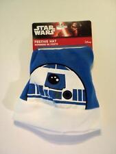 Star Wars Natale R2D2 Robot Festive novità Blu Cappello Di Babbo Da Ragazzo Uomo