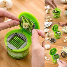 Press Stainless Vegetable Garlic Onion Slicer Chopper Cutter Dicer Kitchen Tool