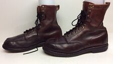 VTG MENS GOLDEN RETRIEVER WORK BURGUNDY BOOTS SIZE ?