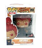 New Funko Pop Street Fighter Akuma 203 Gamestop Exclusive Vinyl Figure MINT BOX