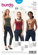 BURDA SEWING PATTERN MISSES' CORSET TOPS  SIZE 8- 20  6709