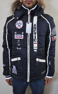 ⛷🎿NEW*BOGNER Arctic Ski Men's Jacket Detachable Fur Size Large Black White ❄️