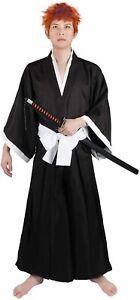Bleach Cosplay Kostüm Costume von Ichigo Kurosaki, Kimono Verkleidung, Schwarz