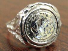 1983 BEZEL SET PANDA COIN COPY RING REAL 10k GOLD 2.6g SIZE 4.75 (GP2005571)