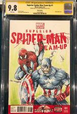 SHELBY ROBERTSON ORIGINAL Sketch Art CGC 9.8 Signed Spider-man Avengers Endgame