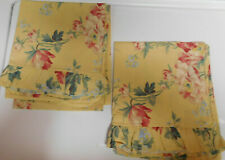 RALPH LAUREN-PARSONAGE-PAIR  KING PILLOWCASES-RUFFLED SOFT YELLOW-ALL COTTON