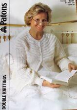 "Patons  DK Knitting Pattern Ladies  Bed Jacket Size 32/46"""