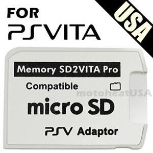 V5.0 SD2VITA PSVSD MicroSD Memory Card Pro Adapter For PS Vita Henkaku 3.60-3.70