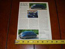 1938 STOUT SCARAB ART DECO VINTAGE CAR ORIGINAL 1996 ARTICLE