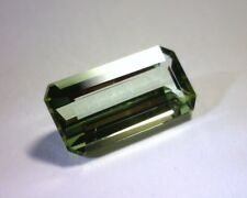 3.05 CT CERTIFIED EMERALD CUT NATURAL GREEN TOURMALINE, VVS, MOZAMBIQUE