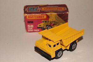 MATCHBOX SUPERFAST #58 FAUN DUMP TRUCK, EXCELLENT, BOXED