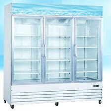 OMCAN RE-CN-0052 3-Door 52cf Commercial Glass Display Refrigerator Cooler NEW!