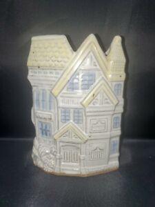 """VTG Holland Amsterdam Dutch House Shaped Ceramic Stoneware Semi Glazed Vase 7"""""""