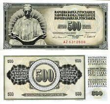 YUGOSLAVIA 500 Dinara Banknote World Paper Money UNC Currency Pick p-91b Bill