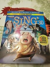 Sing 3D: Special Edition (Blu-ray 3D/2D, DVD) with Slipcover
