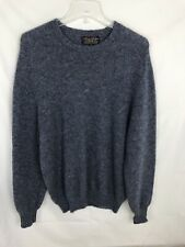 Brooks Brothers Scotland 100% Shetland Wool Blue Mens Size M Pullover Sweater