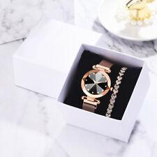 Fashion Luxury Gold Bracelet Multi-Edge Dial Women's Quartz Watch Gift Set