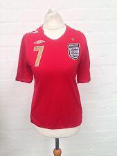 Womens England Shirt 2005/07 - Uk8/10 - #7 Beckham - Great Condition