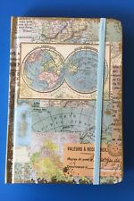 Punch Studio Vintage Map Design ~  100 Ruled Sheets -New - Last One