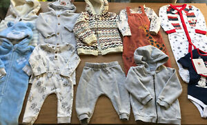 Boys Bundle Of Winter Christmas Clothes Age 6-9 9-12 Months England Rugby Jacket