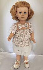 Vintage Mattel Chatty Cathy Doll Blue Eyes Red Bob Hair Freckles