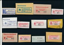 D096860 Nordic Countries Scandinavia Nice selection of Used Registration Labels