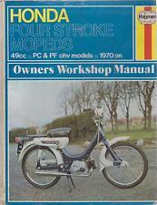 HONDA PC50 & PF50 MOPED ( 1970 - 1978 ) OWNERS WORKSHOP MANUAL