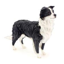 Border Collie Dog Resin Sculpture Decorative Ornament Standing Figurine Decor